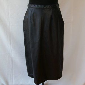 Vintage Leather High Waisted Carter Burton Skirt